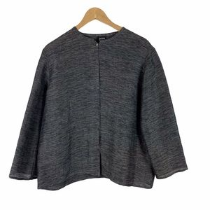 Eileen Fisher black linen and cotton jacket